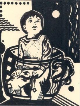 Alberto Cini - il bambino nella tazza