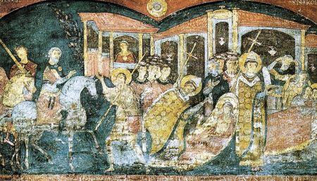 Roma, san clemente inferiore, scene della vita di sant'alessio, fine XI secolo