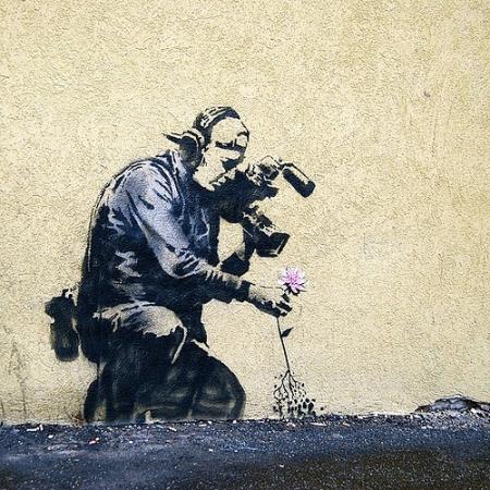 Banksy art Park City Sundance Film Festival