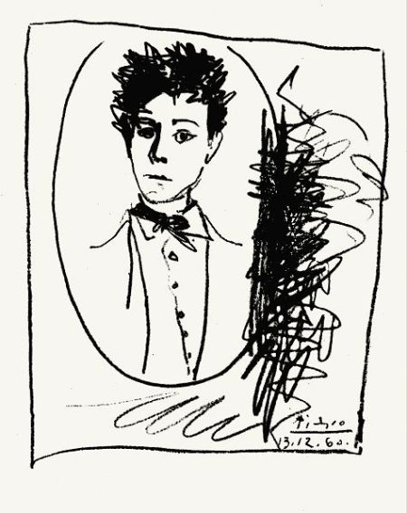arthur rimbaud picasso drawing