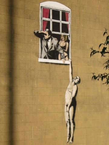 banksy-coppia finestra piccola