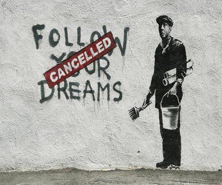 banksy follow your dream piccola