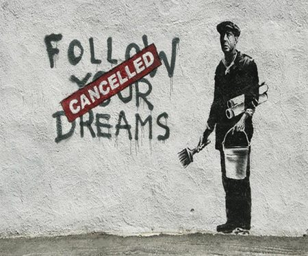 banksy follow your dream piccola