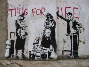 banksy-graffiti-street-art-thug-for-life piccola