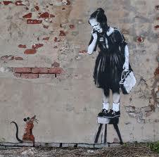 bansky ragazza e topo piccola
