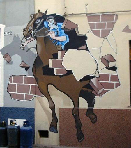 cavallo impazzito murales di orgosolo_0